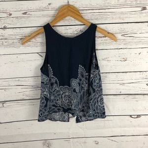 Solemio Los Angeles Open Back Crop Top Size Small